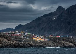 A windy and cloudy day in Sisimiut in Greenland. Photo by Mads Pihl - Visit Greenland