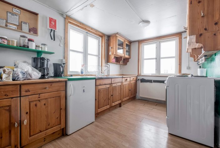 Kitchen in Kulusuk Hostel. Photo by Icelandic Mountain Guides