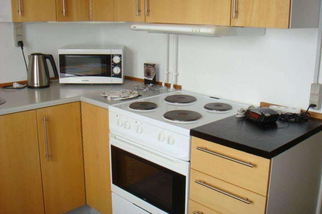 Kitchen at Qaanaaq Accommodation. Photo by Qaanaaq Accommodation