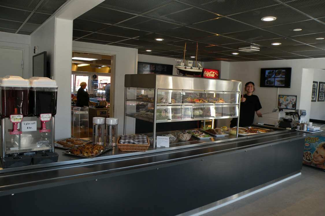Cafeteria with a variety of delicacies. Photo by Hotel Sømandshjemmet, Visit Greenland