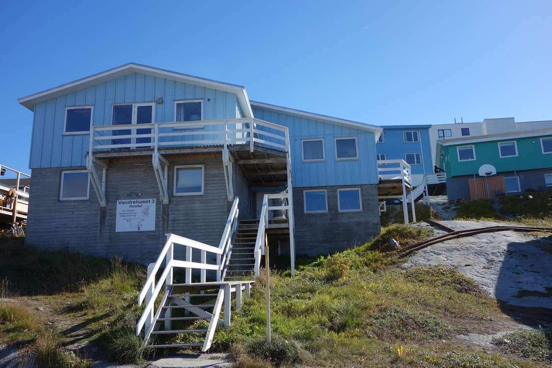 Front view of the Vandrehus. Photo by Vandrehuset.com, Visit Greenland